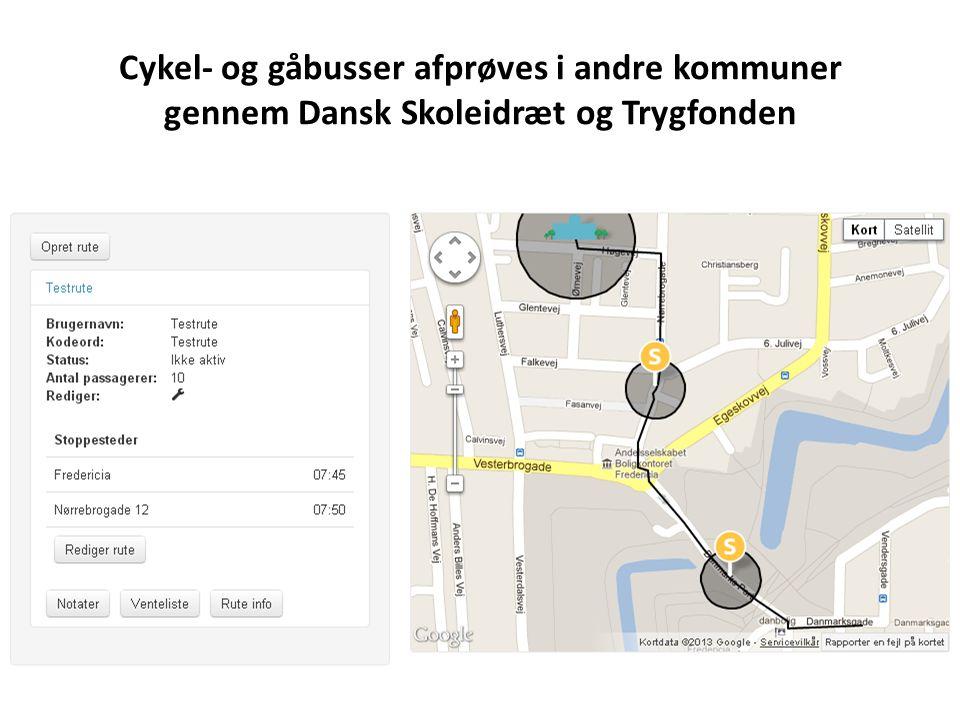 Cykel- og gåbusser afprøves i andre kommuner gennem Dansk Skoleidræt og Trygfonden