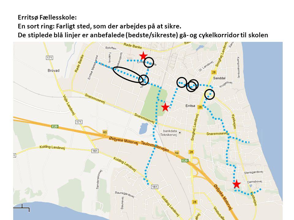 Erritsø Fællesskole: En sort ring: Farligt sted, som der arbejdes på at sikre.