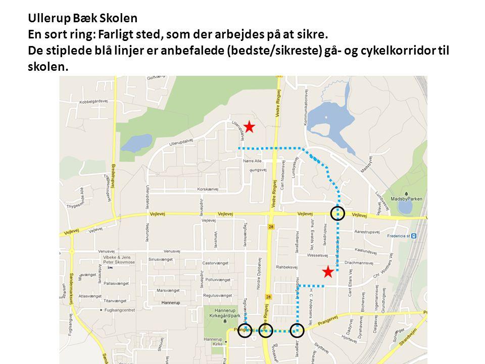 Ullerup Bæk Skolen En sort ring: Farligt sted, som der arbejdes på at sikre.