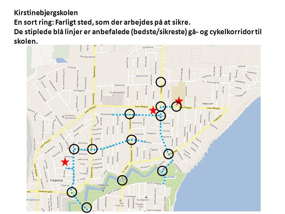 Kirstinebjergskolen En sort ring: Farligt sted, som der arbejdes på at sikre.