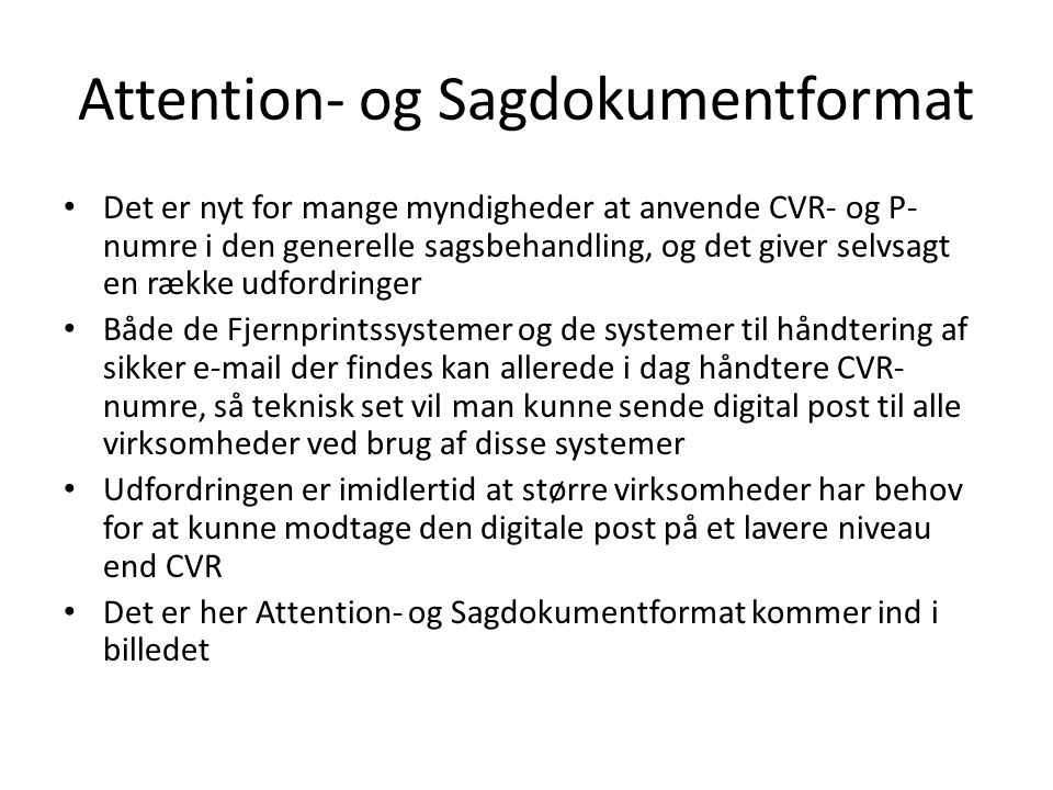 Attention- og Sagdokumentformat