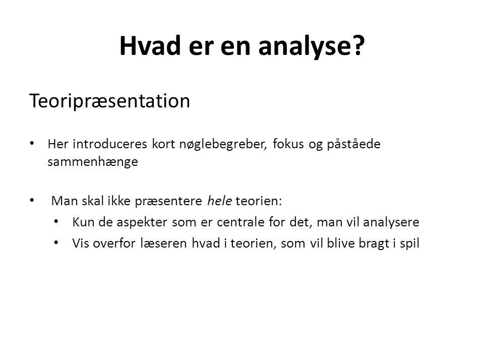 Hvad er en analyse Teoripræsentation