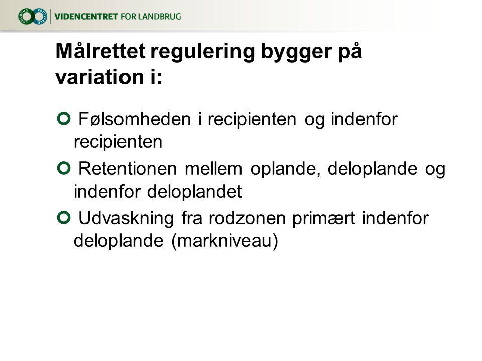 Målrettet regulering bygger på variation i: