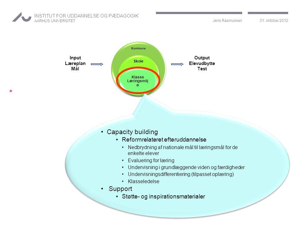 Capacity building Support Reformrelateret efteruddannelse