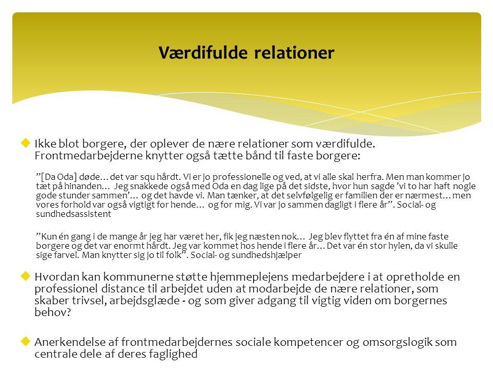 Værdifulde relationer