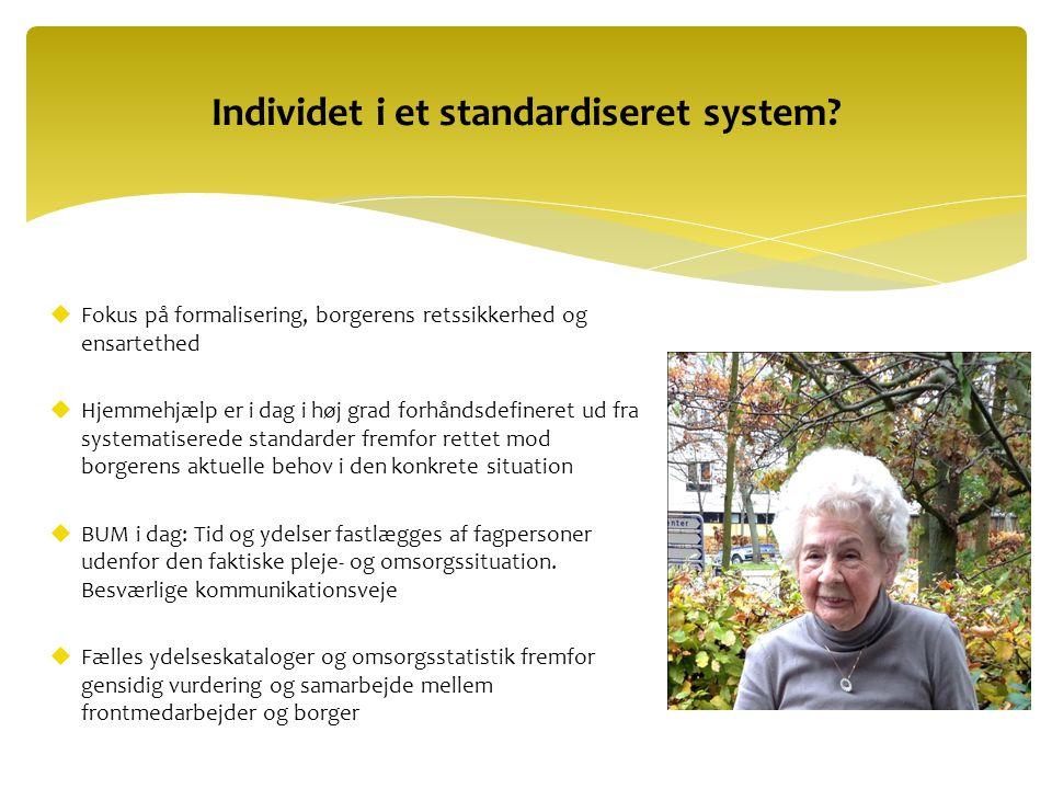 Individet i et standardiseret system