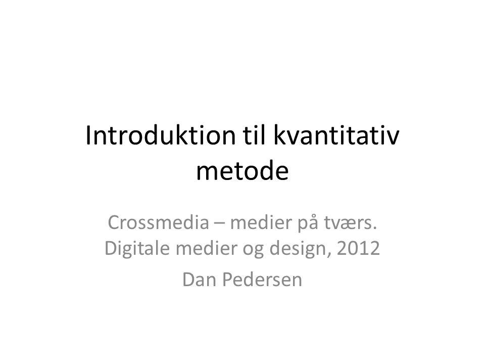 Introduktion til kvantitativ metode