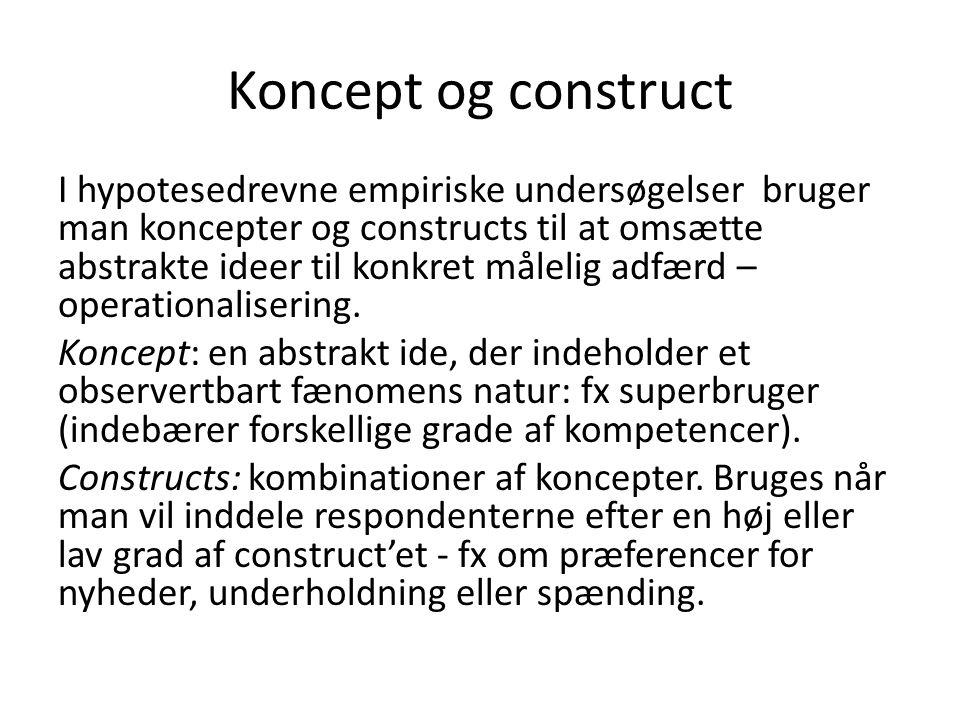 Koncept og construct