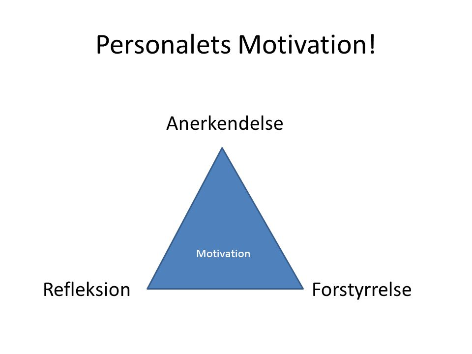 Personalets Motivation!