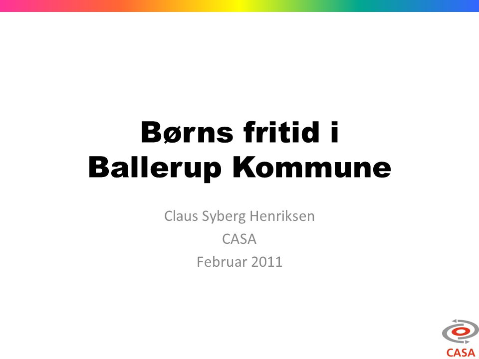 Børns fritid i Ballerup Kommune