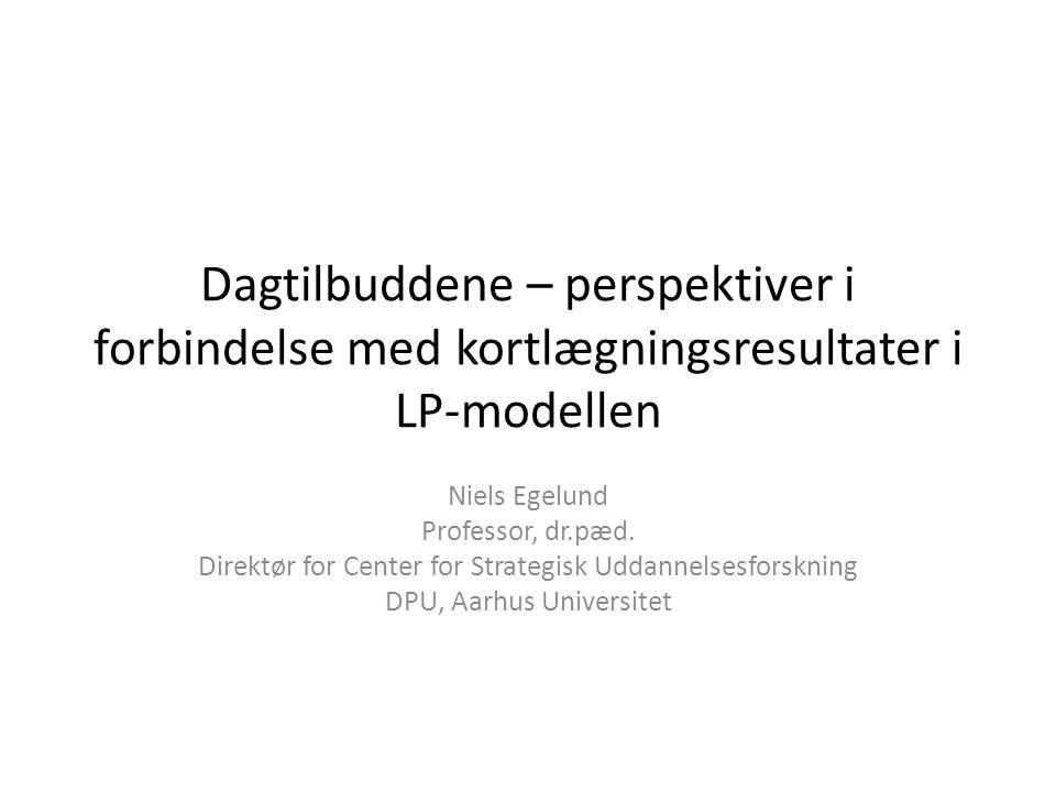 Dagtilbuddene – perspektiver i forbindelse med kortlægningsresultater i LP-modellen