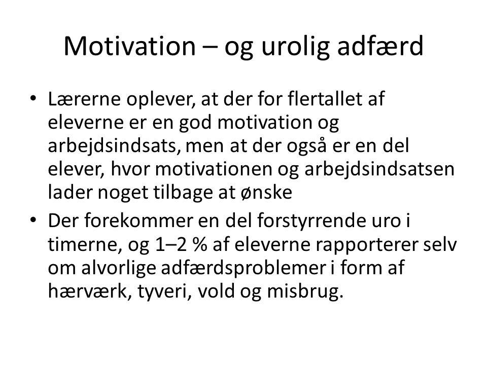 Motivation – og urolig adfærd