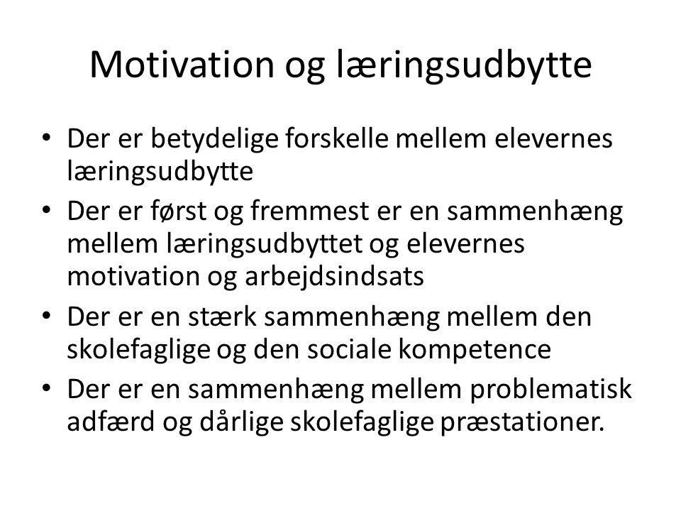 Motivation og læringsudbytte