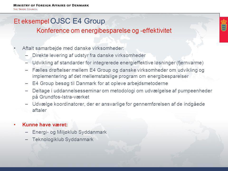 Et eksempel OJSC E4 Group