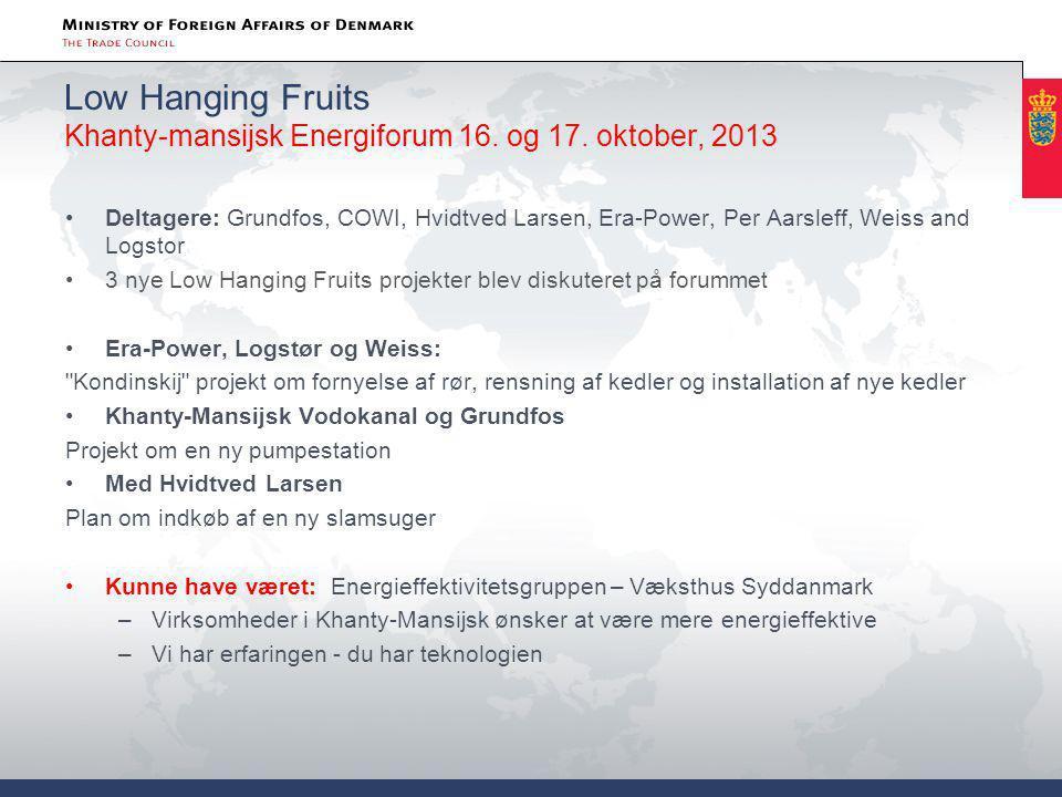 Low Hanging Fruits Khanty-mansijsk Energiforum 16. og 17. oktober, 2013