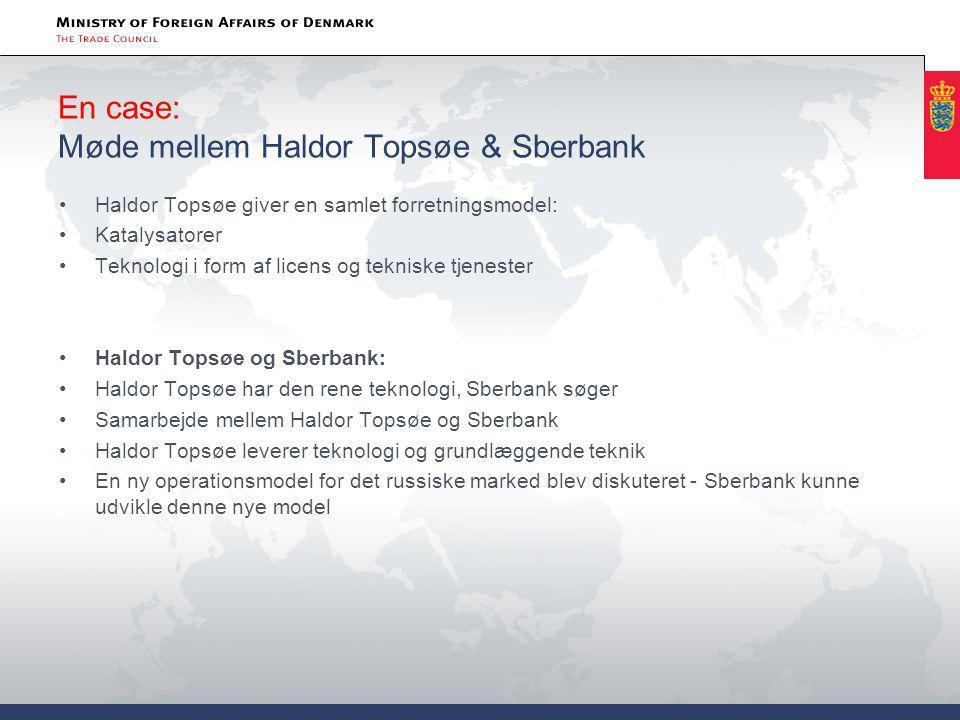 En case: Møde mellem Haldor Topsøe & Sberbank