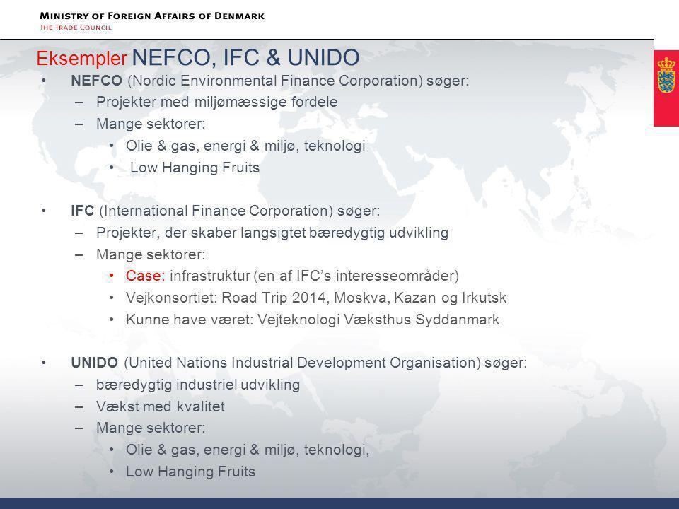 Eksempler NEFCO, IFC & UNIDO