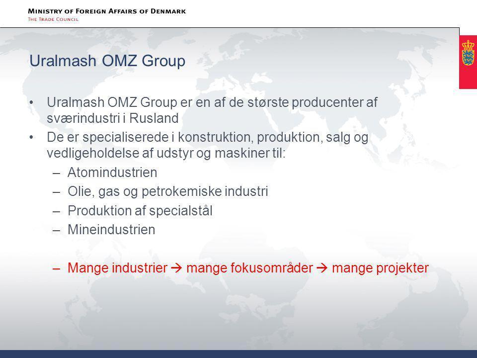 Uralmash OMZ Group Uralmash OMZ Group er en af de største producenter af sværindustri i Rusland.