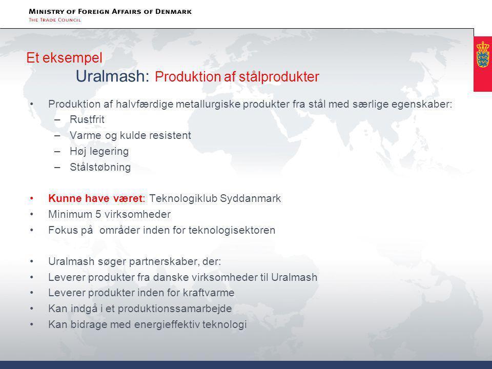 Et eksempel Uralmash: Produktion af stålprodukter