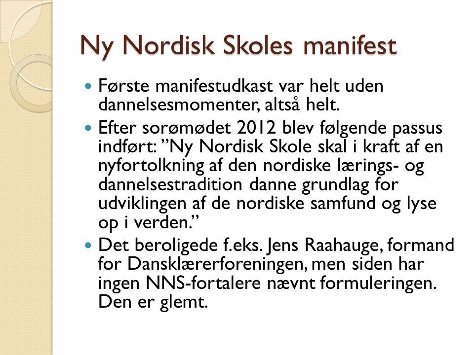 Ny Nordisk Skoles manifest