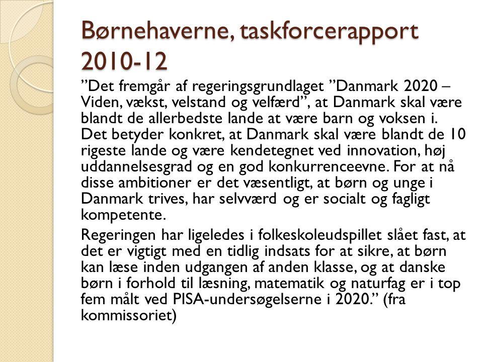 Børnehaverne, taskforcerapport 2010-12