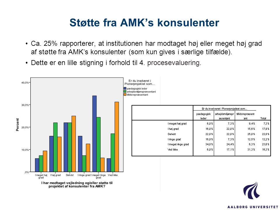 Støtte fra AMK's konsulenter