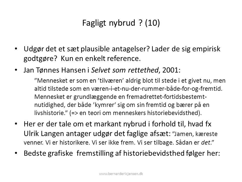 Fagligt nybrud (10) Udgør det et sæt plausible antagelser Lader de sig empirisk godtgøre Kun en enkelt reference.