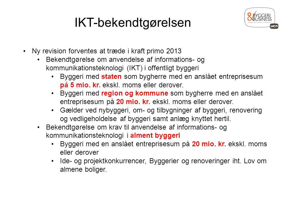 IKT-bekendtgørelsen Ny revision forventes at træde i kraft primo 2013