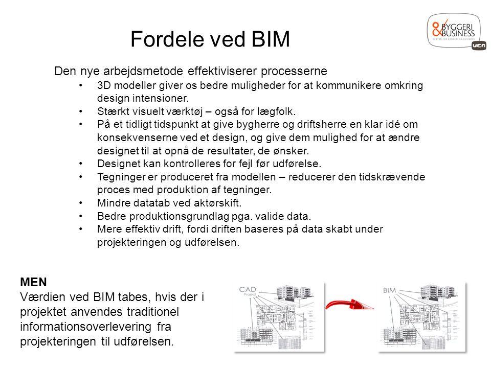 Fordele ved BIM Den nye arbejdsmetode effektiviserer processerne MEN