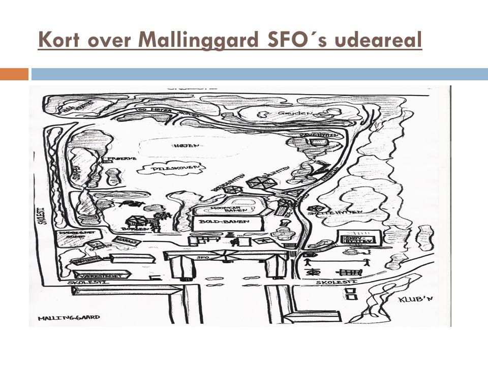 Kort over Mallinggard SFO´s udeareal
