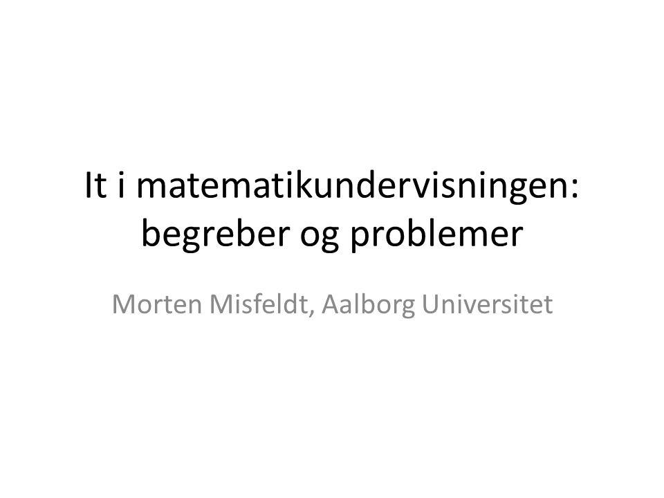 It i matematikundervisningen: begreber og problemer