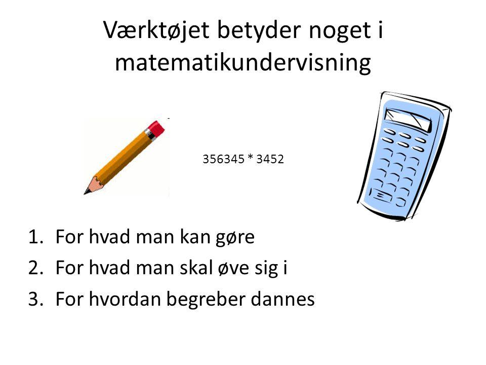Værktøjet betyder noget i matematikundervisning