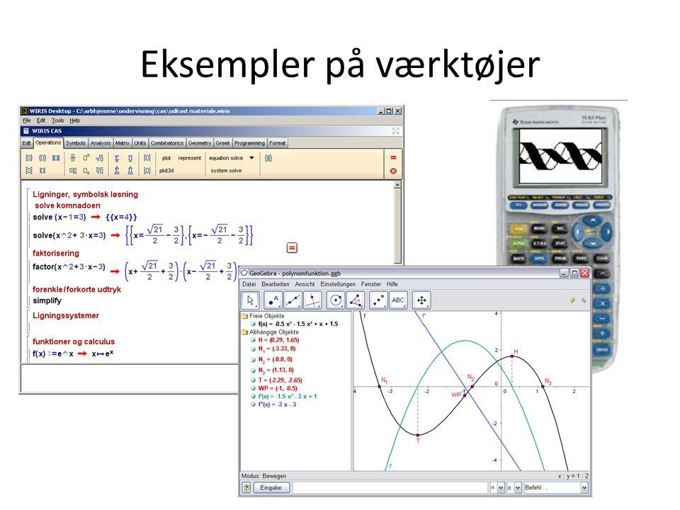 Eksempler på værktøjer