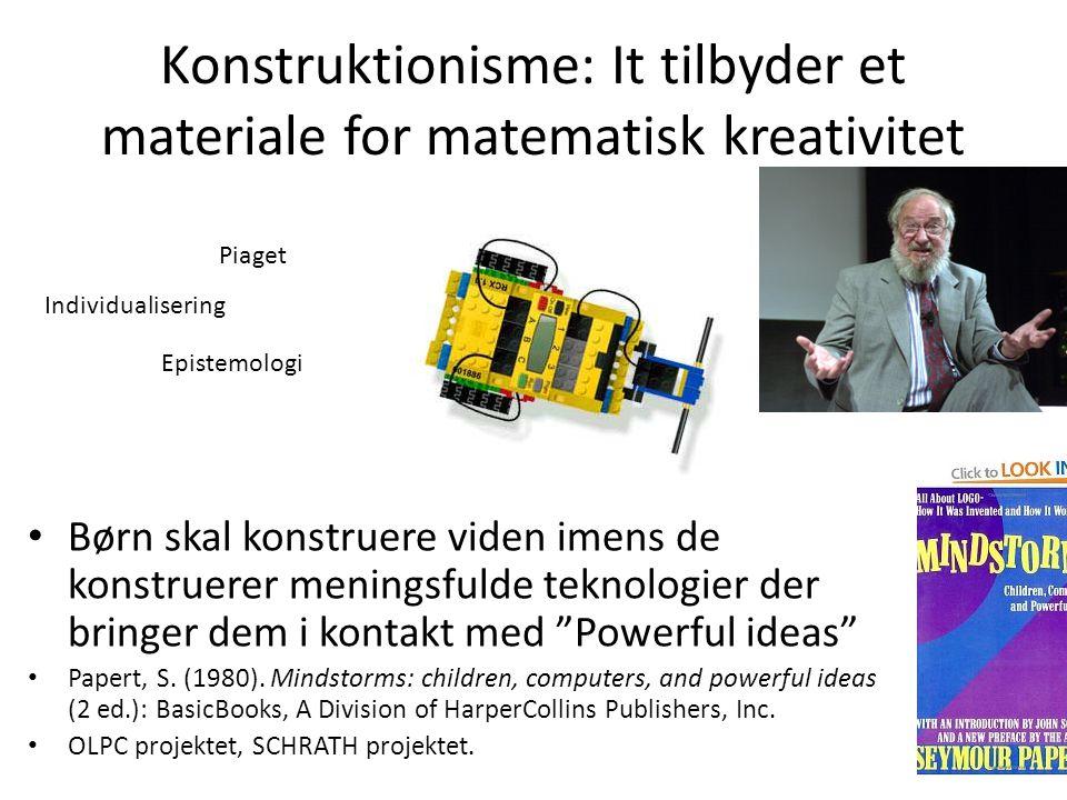 Konstruktionisme: It tilbyder et materiale for matematisk kreativitet