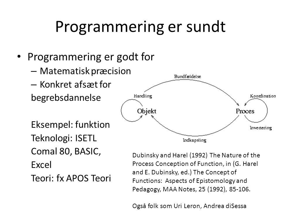 Programmering er sundt
