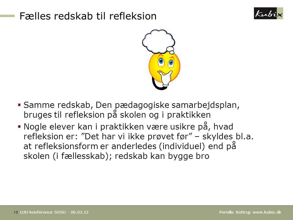 Fælles redskab til refleksion
