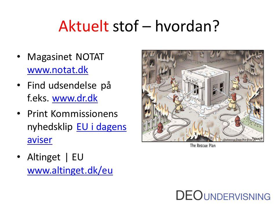 Aktuelt stof – hvordan Magasinet NOTAT www.notat.dk