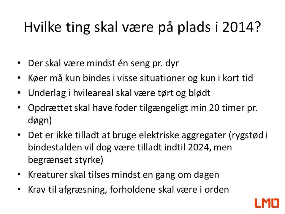 Hvilke ting skal være på plads i 2014