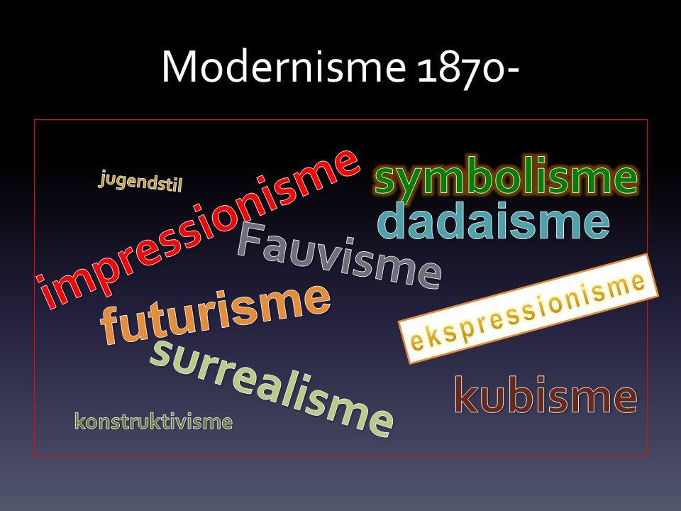 symbolisme impressionisme dadaisme Fauvisme futurisme surrealisme