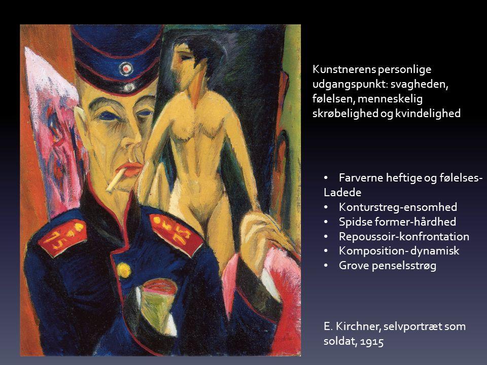 Kunstnerens personlige udgangspunkt: svagheden, følelsen, menneskelig skrøbelighed og kvindelighed