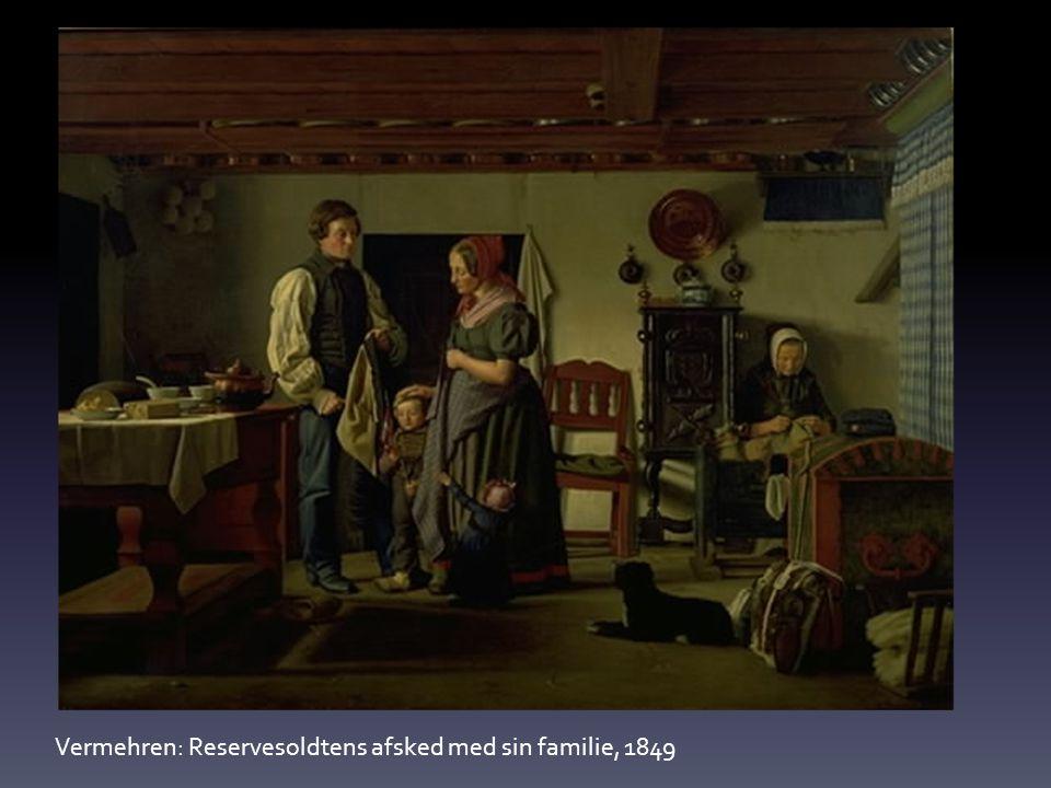 Vermehren: Reservesoldtens afsked med sin familie, 1849