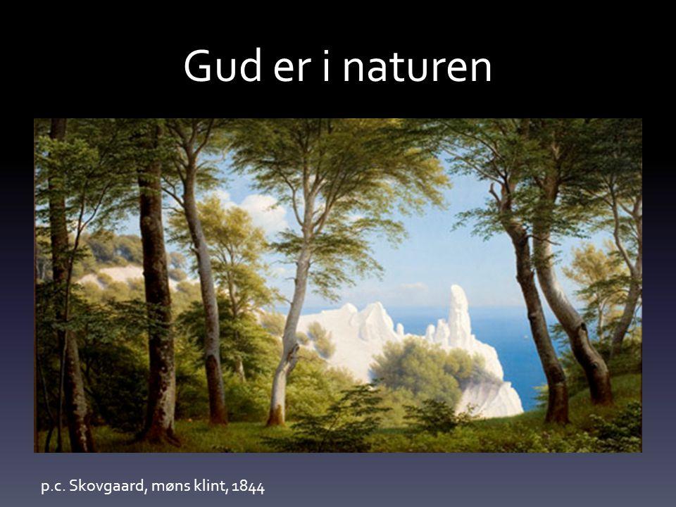 Gud er i naturen p.c. Skovgaard, møns klint, 1844