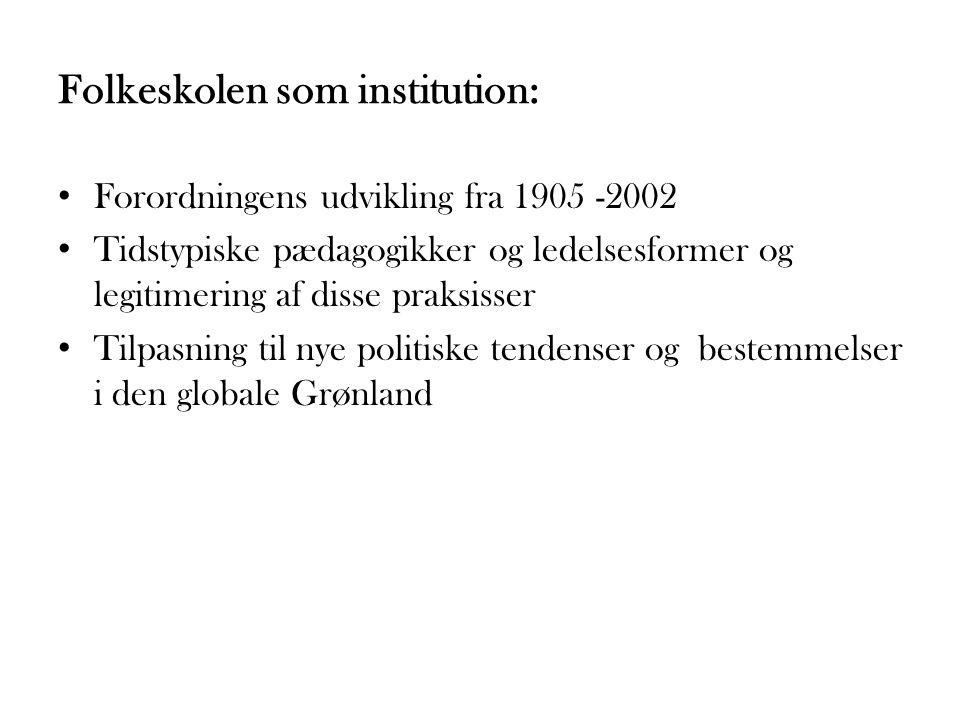 Folkeskolen som institution: