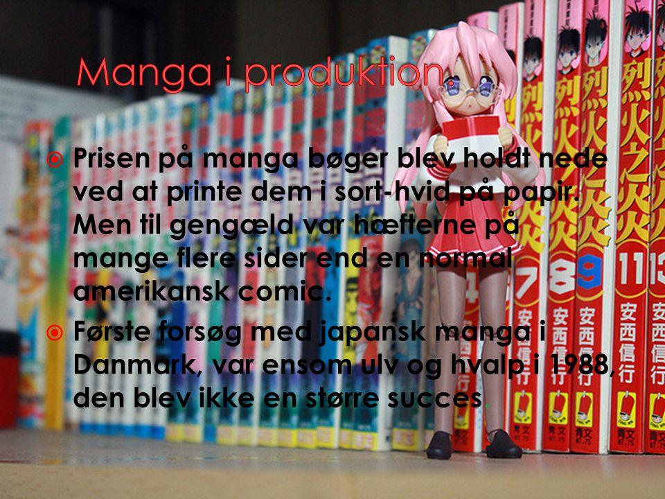 Manga i produktion.