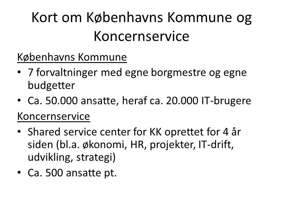 Kort om Københavns Kommune og Koncernservice