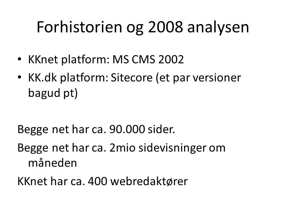 Forhistorien og 2008 analysen