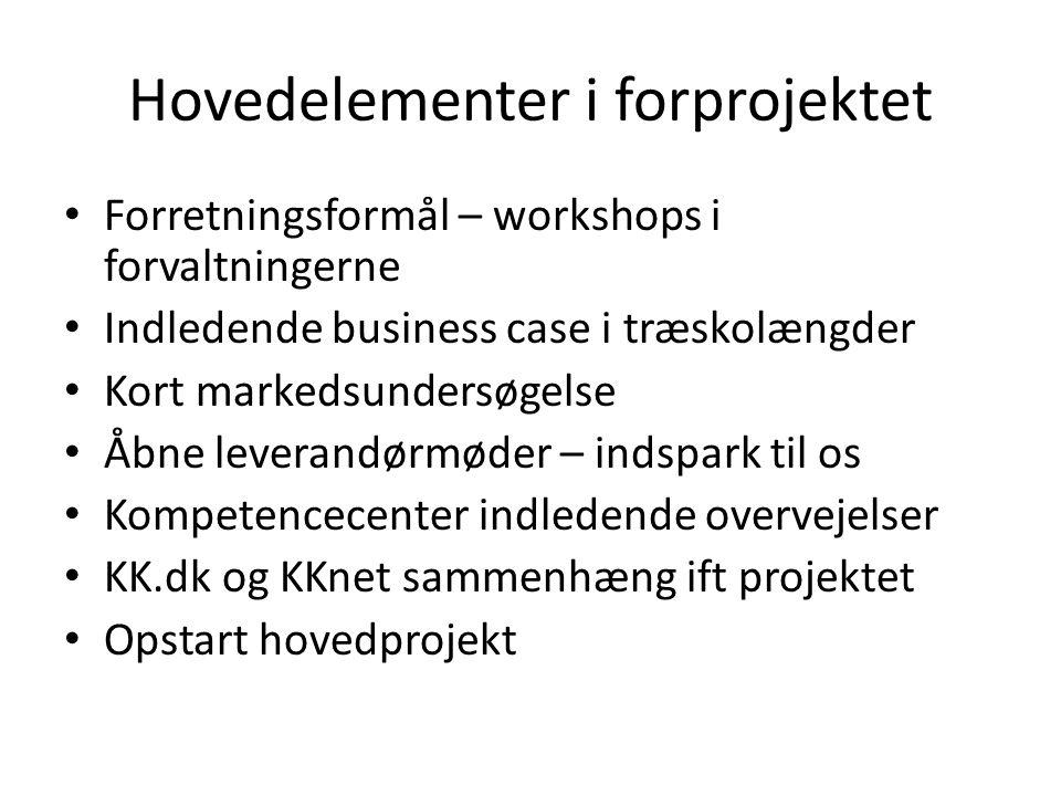 Hovedelementer i forprojektet