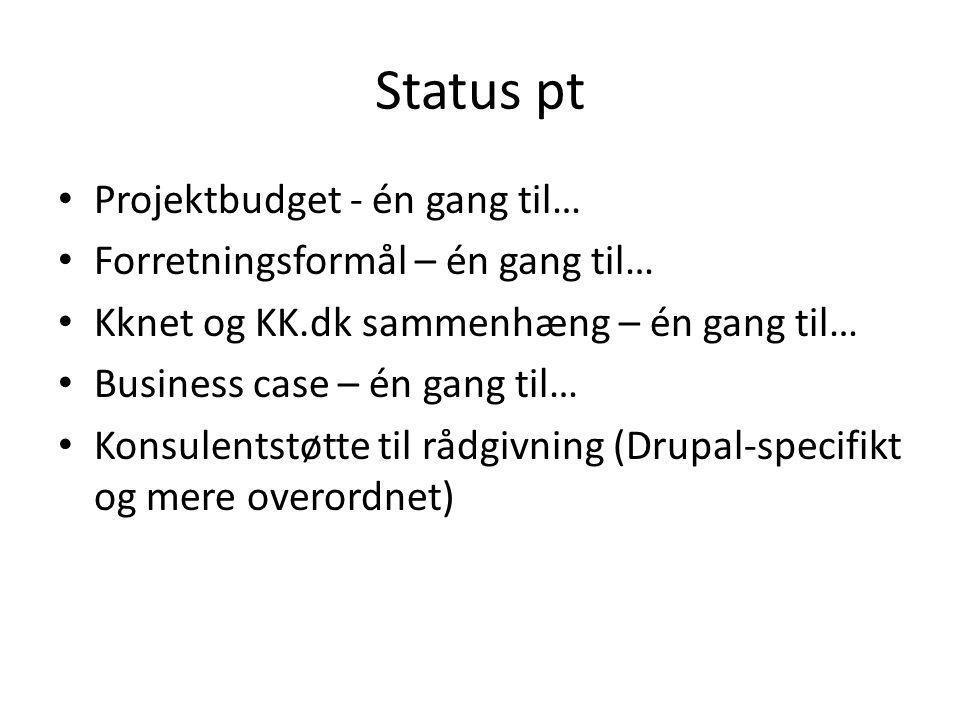 Status pt Projektbudget - én gang til…