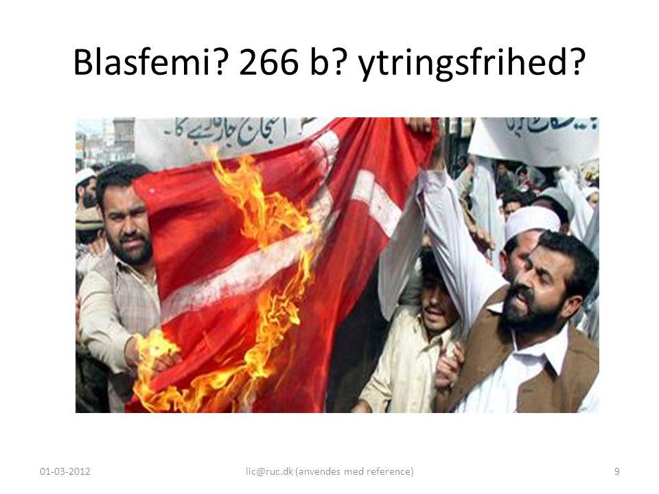 Blasfemi 266 b ytringsfrihed