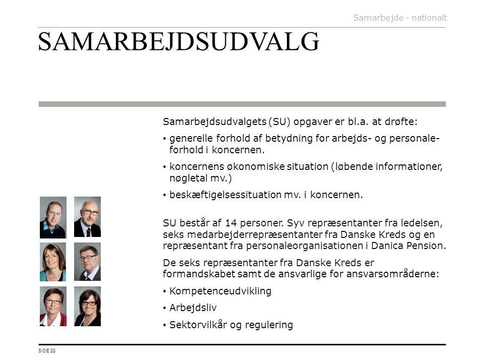 SAMARBEJDSUDVALG Samarbejdsudvalgets (SU) opgaver er bl.a. at drøfte: